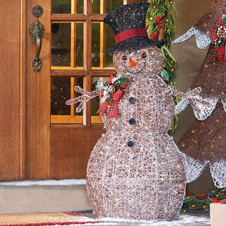 Outdoor Lighted Snowman Frosted snowman lighted outdoor christmas decoration improvements frosted snowman lighted outdoor christmas decoration workwithnaturefo