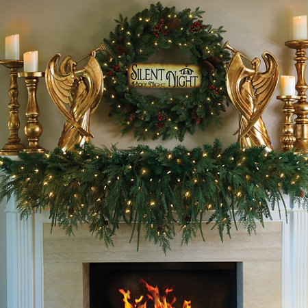 - 6' Lighted Natural Look Mantle Christmas Swag Improvements