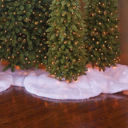 white christmas tree skirt with lights - White Christmas Tree Skirt