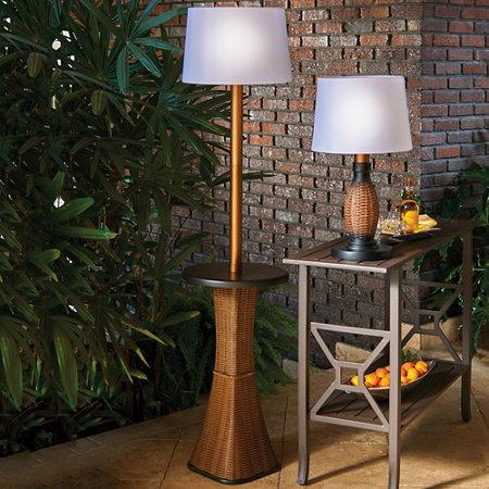 battery operated wicker outdoor floor lamp improvements