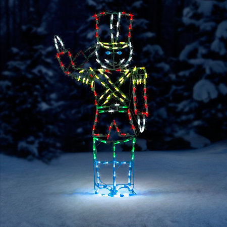 proline animated saluting soldier led outdoor christmas decoration