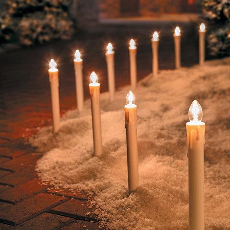 Candlestick Christmas Pathway Lights Set Of 10 Improvements Catalog - Pathway Christmas Lights