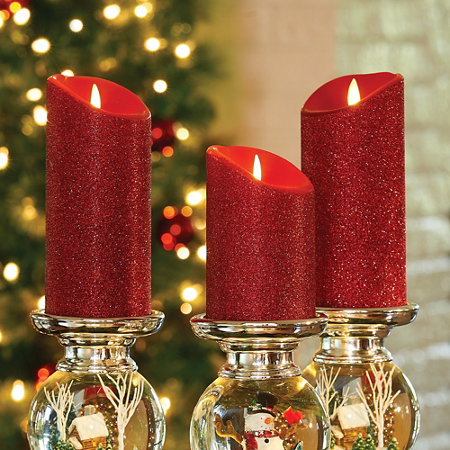 7 faux flicker battery operated candle - Christmas Decorations Battery Operated Candles