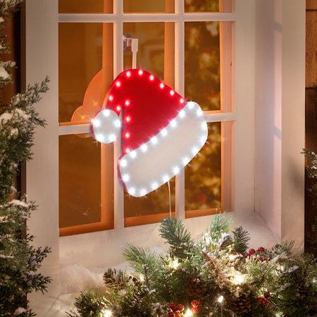 led santa hat icon christmas decoration