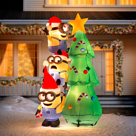 6 decorating minions christmas inflatable - Christmas Minions
