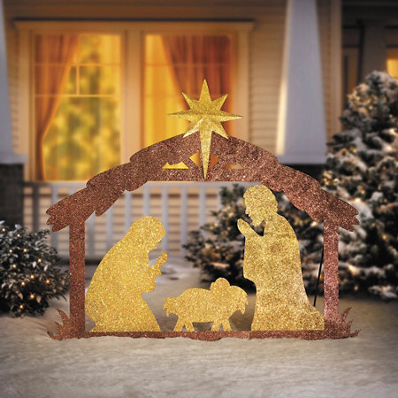 metal nativity yard sign christmas decoration - Nativity Outdoor Christmas Decorations