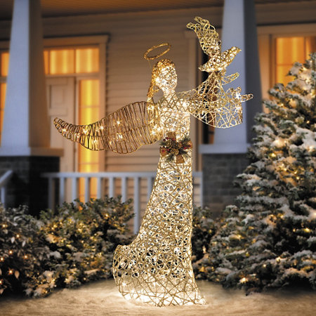 5 faux grapevine angel outdoor christmas decoration - Christian Outdoor Christmas Decorations