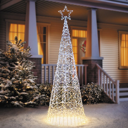 6 1 2 Ombre Led Cone Tree Outdoor Christmas Decoration