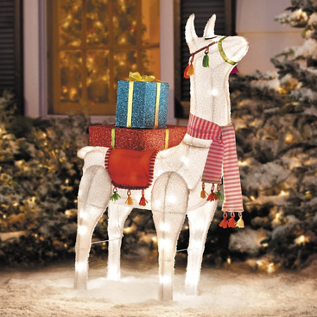 festive llama lighted outdoor christmas decoration