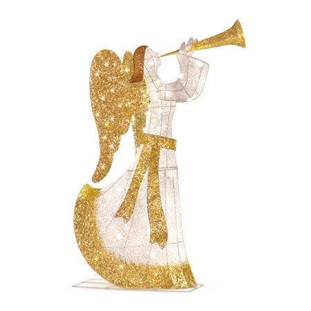 Christmas Angel Yard Decorations Trumpeting Outdoor Lighted Pre Lit