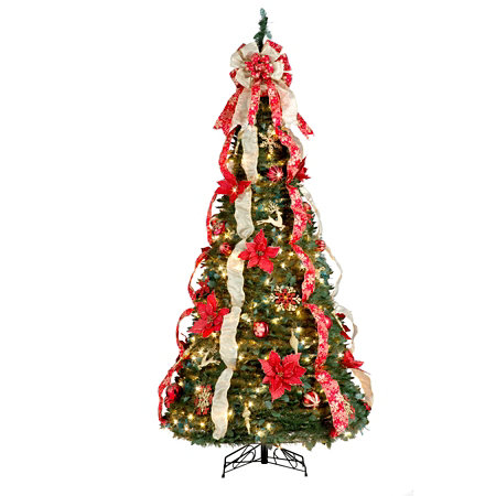 Pull Up Christmas Tree With Lights