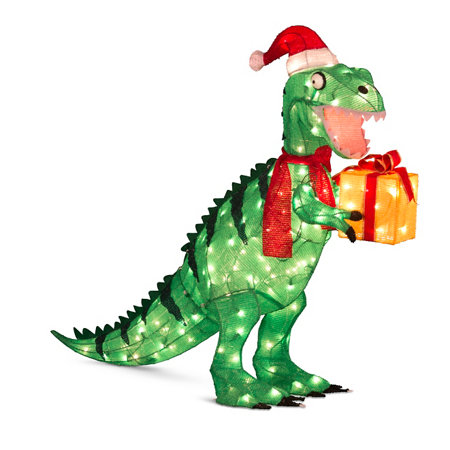 Animated tinsel dinosaur christmas decorations improvements for Animated tinsel dinosaur christmas decoration