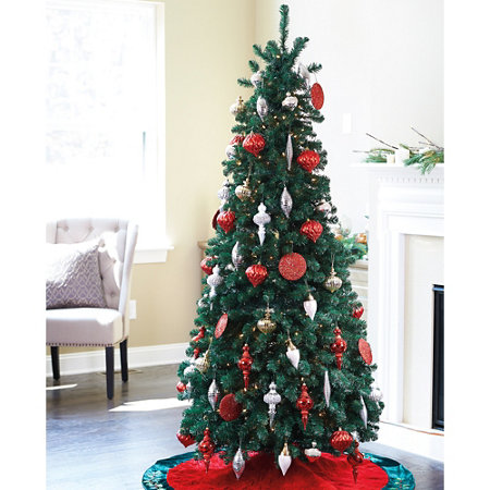 pre lit noble pine pull up christmas tree 6 12 - Pull Up Christmas Trees Decorated
