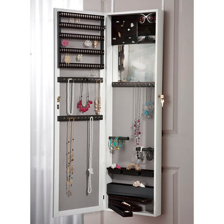 Cynthia Over The Door Jewelry Cabinet With Full Length Mirror