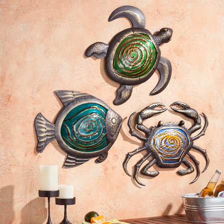 Metal Sea Life Outdoor Wall Decor Improvements