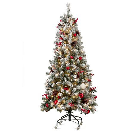 6 pre decorated christmas tree - 6 Christmas Tree