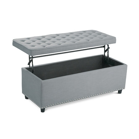 Upholstered Lift Top Storage Ottoman