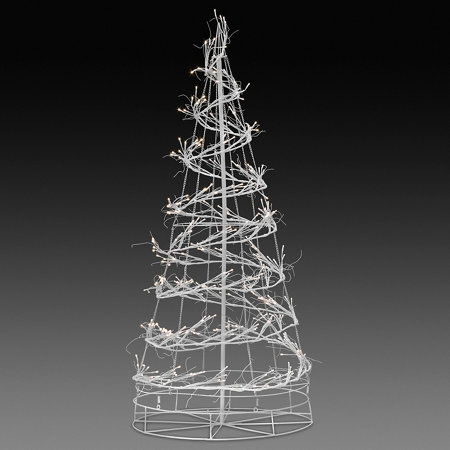 6' LED Spiral Tree Outdoor Christmas Decoration