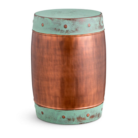 hammered ideas stool designs metal garden colored gallery copper with of planter