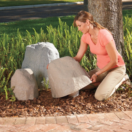 Fake Landscape Rocks Faux Rock Covers Boulders - Artificial Rocks For Landscaping Sevenstonesinc.com