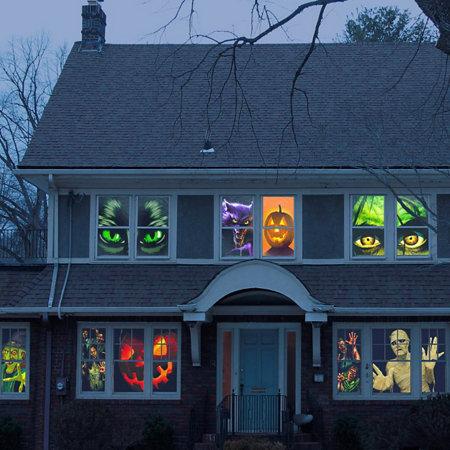 Halloween window posters improvements for Halloween window designs