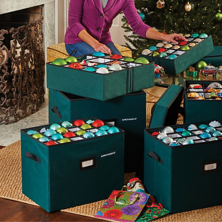 Ornament storage box 72 count for Xmas decoration storage boxes