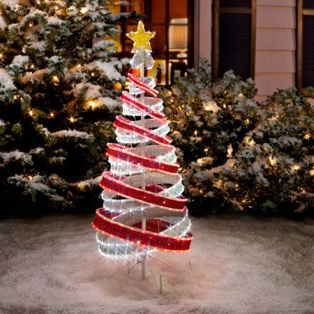 tube light spiral christmas tree 4 ft