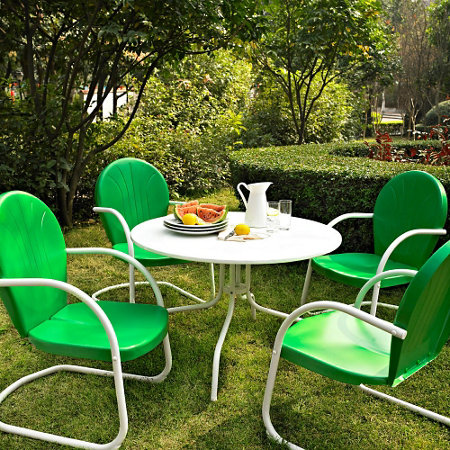 Griffith retro metal patio furniture improvements for Retro outdoor furniture
