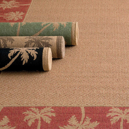 Palm Tree Border Outdoor Rugs Improvements