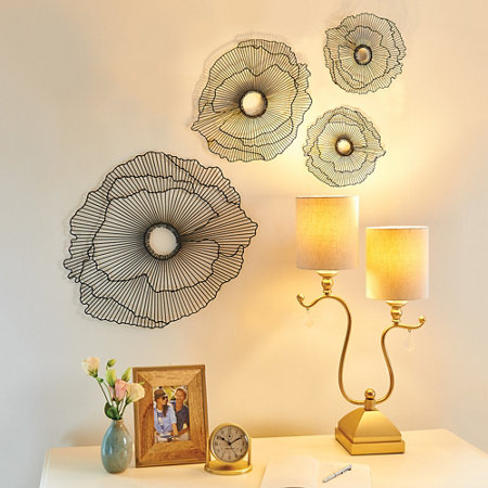Floating Flowers Metal Wall Decor | Improvements