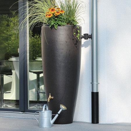 2 in 1 rain barrel and planter 79 gallon improvements catalog. Black Bedroom Furniture Sets. Home Design Ideas