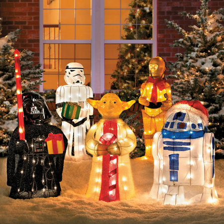Tinsel Christmas Star Wars Characters With Gift Improvements