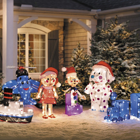 3d rudolph misfit toys christmas decorations