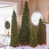 alpine pre lit christmas trees decor - Half Christmas Trees