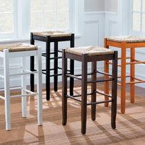Rush Seat Bar Stool & Water Hyacinth Bar Stools-Set of 2   Improvements Catalog islam-shia.org