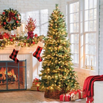 pinedale slim artificial christmas trees - Half Christmas Trees